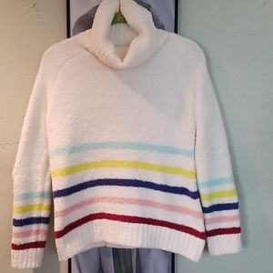 Philosophy Ivory Sweater w/ Multicolored Stripes